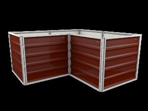 smartbeet® – Winkel | Metallhochbeet Seitenansicht nussbraun