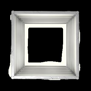 smartbeet® – Quadrat | Metallhochbeet Seitenansicht