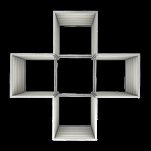 smartbeet® – Kreuz | Metallhochbeet Draufsicht