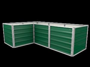 smartbeet® – L-Block | Metallhochbeet Seitenansicht moosgrün