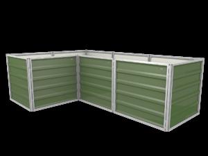 smartbeet® – L-Block | Metallhochbeet Seitenansicht resedagrün