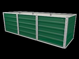 smartbeet® – Lang | Metallhochbeet Seitenansicht mossgrün