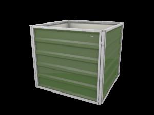smartbeet® – Quadrat | Metallhochbeet Seitenansicht resedagruen