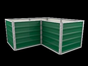 smartbeet® – Winkel | Metallhochbeet Seitenansicht moosgrün